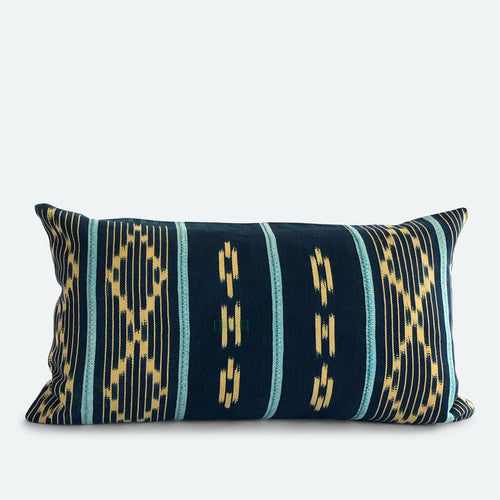 Small Lumbar Pillow Cover - Blue Baoule No.16
