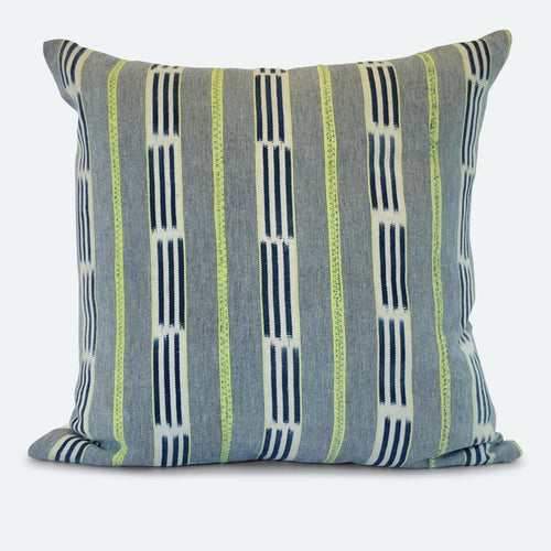 20x20 Pillow Cover - Blue Baoule No.25