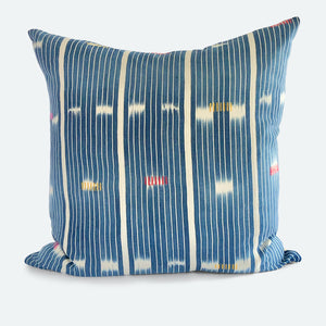 20x20 Pillow Cover - Blue Baoule No.2