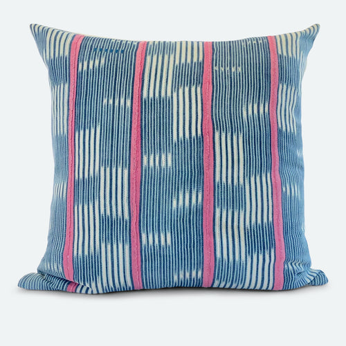 20 X 20 Pillow Cover - Blue Baoule No.3
