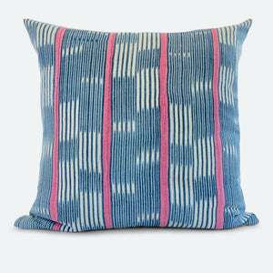 20x20 Pillow Cover - Blue Baoule No.3