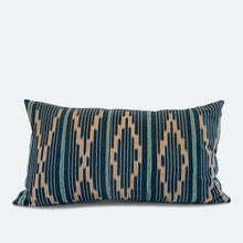 Load image into Gallery viewer, Small Lumbar Pillow Cover - Blue Baoule No.4