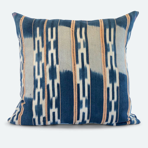 20x20 Pillow Cover - Blue Baoule No.5