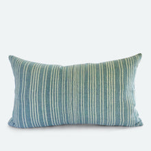 Load image into Gallery viewer, Small Lumbar Pillow Cover - Blue Karen Hmong No.2