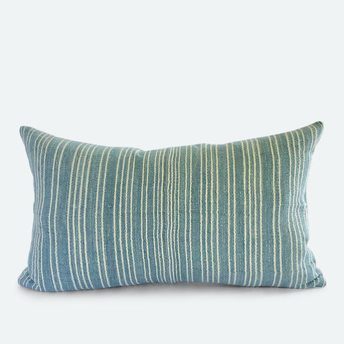 Small Lumbar Pillow Cover - Blue Karen Hmong No.2