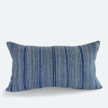 Load image into Gallery viewer, Small Lumbar Pillow Cover - Blue Karen Hmong No.1