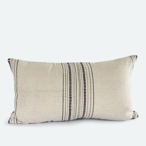 Small Lumbar Pillow Cover - Cream Karen Hmong No.3