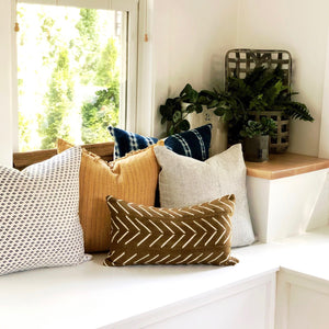 20x20 Pillow Cover - Blue & White Woven No.2