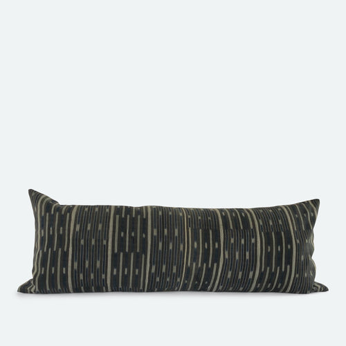 Large Lumbar Pillow Cover - Grey Baoule No.2