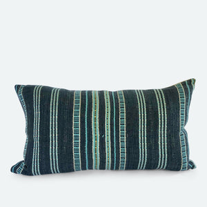 Small Lumbar Pillow Cover - Grey Karen Hmong No. 4
