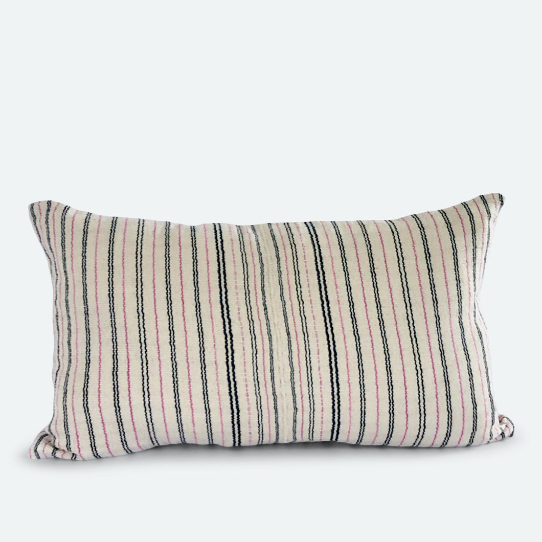 Small Lumbar Pillow Cover - Cream Karen Hmong No.2
