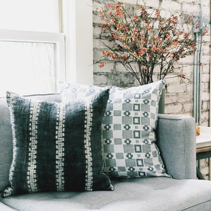 20x20 Pillow Cover - Grey & White Woven No.1