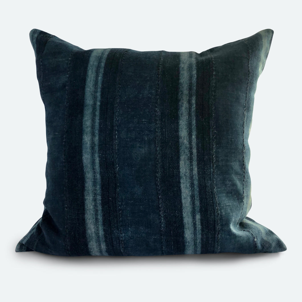 20x20 Pillow Cover - Indigo Stripe No.1