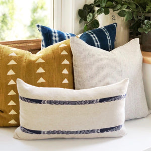 20x20 Pillow Cover - Indigo Woven No.1