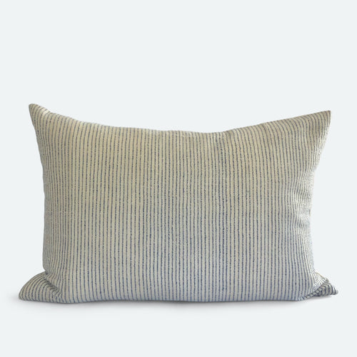 Medium Lumbar Pillow Cover - Indigo Woven No.1
