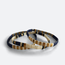 Load image into Gallery viewer, EVERAND x M.C. BEADZ Indigo Bracelet Stack - RETIRED