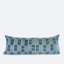Load image into Gallery viewer, Large Lumbar Pillow Cover - Blue Baoule No.2