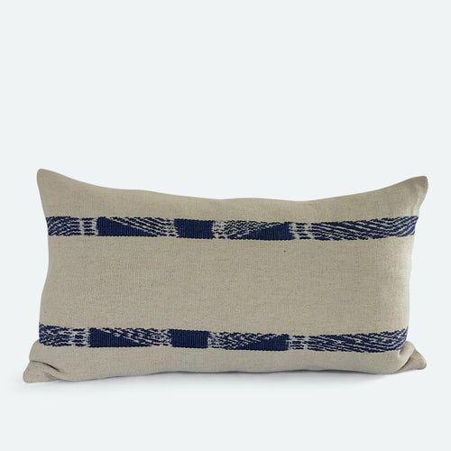 Small Lumbar Pillow Cover - Natural Hemp No.2