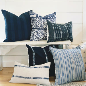 22x22 Pillow Cover - Midnight Woven Shibori No.1