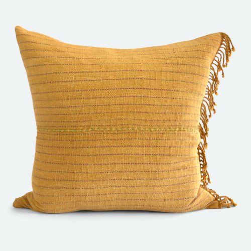 20x20 Pillow Cover - Ochre Karen Hmong No.1