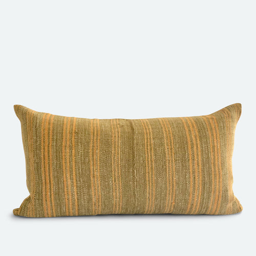 Small Lumbar Pillow Cover - Olive Karen Hmong No.1
