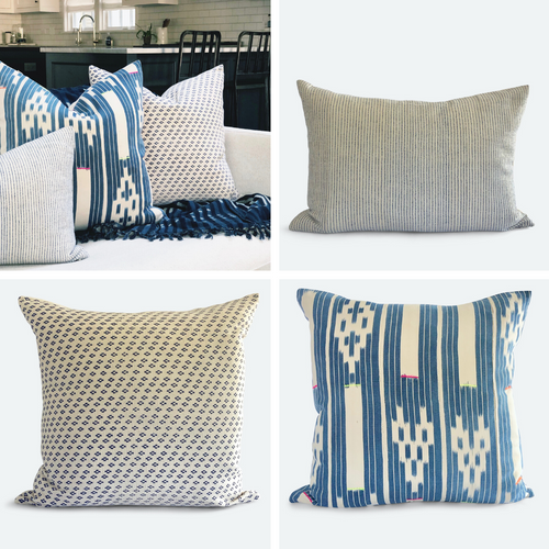 Boho Blue Pillow Bundle