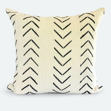 Load image into Gallery viewer, 20x20 Pillow Cover - White Arrow Mudcloth No.1