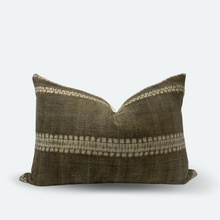 Load image into Gallery viewer, Medium Lumbar Pillow Cover - Chestnut Shibori No.1
