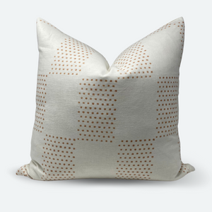 20x20 Pillow Cover - Dusty Clay Checkered Block Print