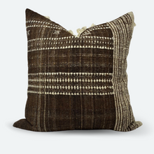 Load image into Gallery viewer, 20x20 Pillow Cover - Cocoa Indian Wool Stripe