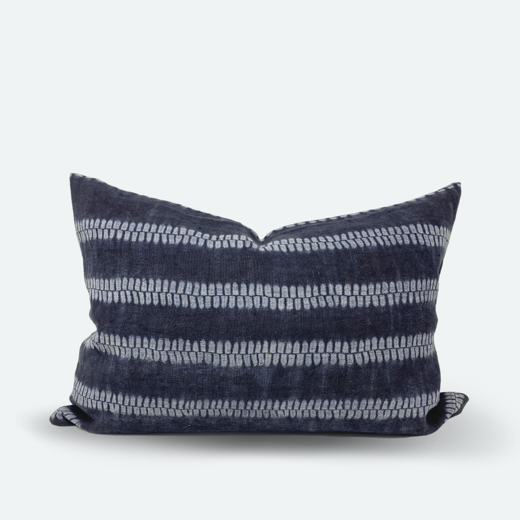 CUSTOM Pillow Cover - Indigo Shibori No.1