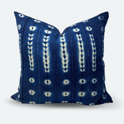 20x20 Pillow Cover - Indigo Shibori No.2