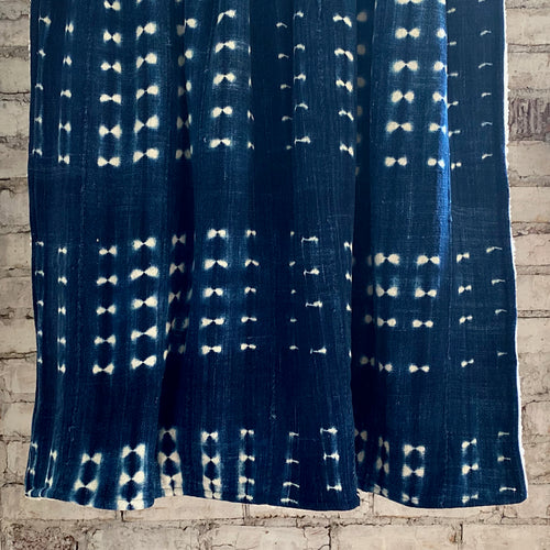 Sherpa Throw Blanket - Indigo Shibori