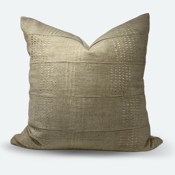 22x22 Pillow Cover - Natural Aso-Oke