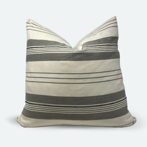 20x20 Pillow Cover - Grey Baoule No.1