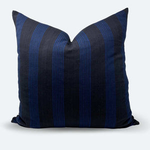 22x22 Pillow Cover - Midnight Woven Stripe No.1