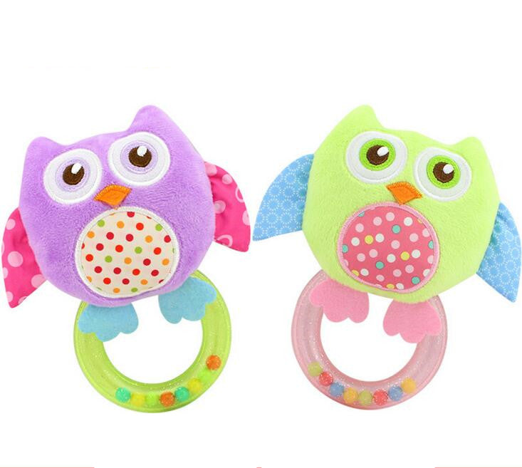Mini Smiling Owl Toy Rattle