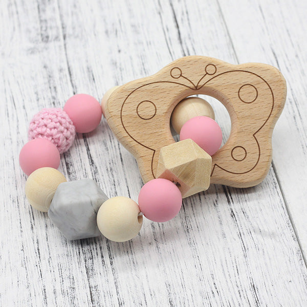 Pacifier Clip Rattle Holder Chewable