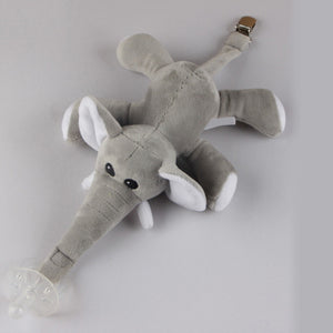 Baby Pacifier Plush Animal Toy