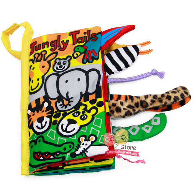 Activity Unfolding Cloth Animal Tails Book