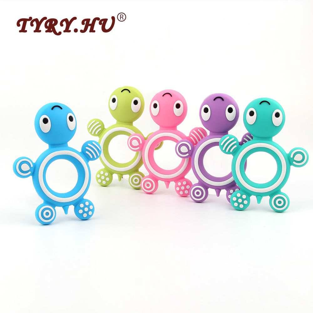 Tortoise Silicone Bead Teether