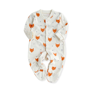 Footies Cartoon Fox Long Sleeves Overall