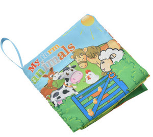 1PCS Fabric Language Cartoon Book