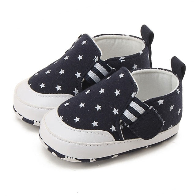 Star Printed Soft Bottom Sneakers
