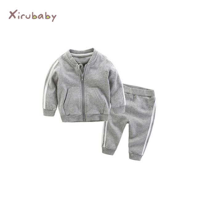 Long Sleeve Zipper Jacket+Pants Tracksuit
