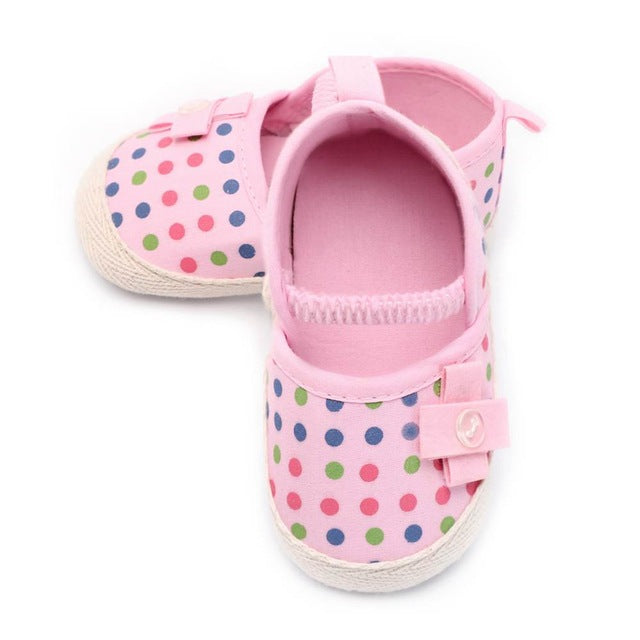 Polka Dots Flowers Shoes
