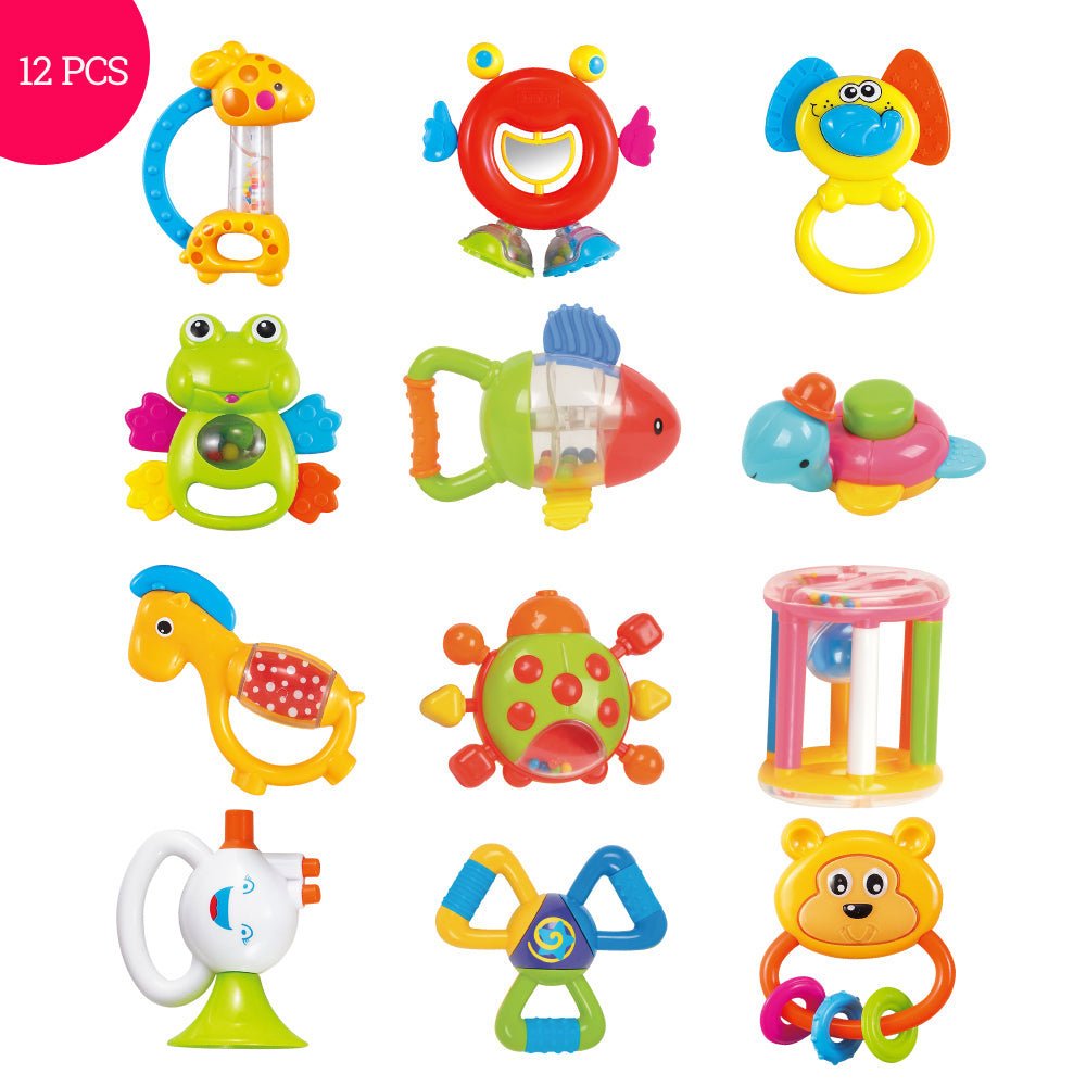 Plastic Hand Shaking Bell 12PCS Rattles