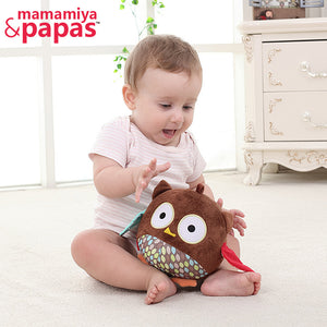 Doll Owl With BB Rattles