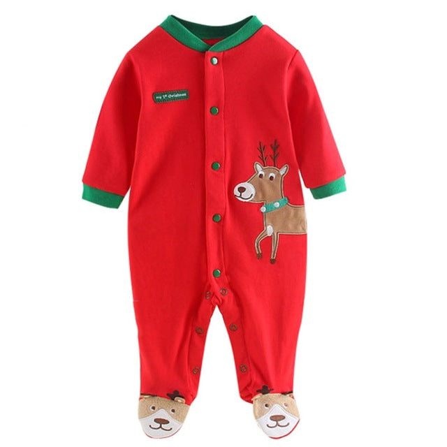 Christmas Long Sleeve Santa Body Suit