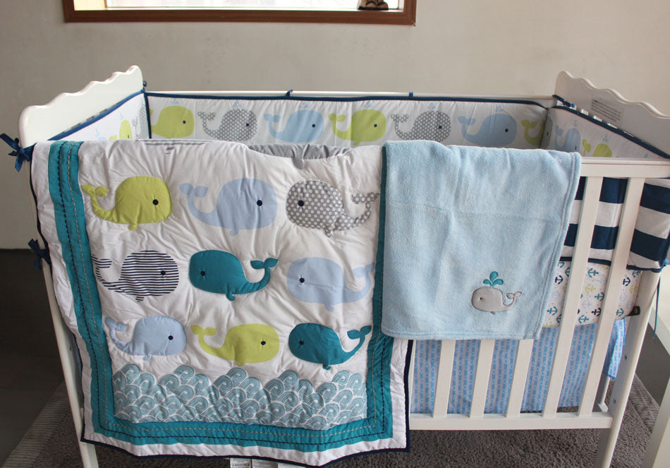 Whale Embroider Bedding Set